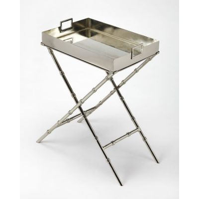 Muriel Metal & Mirror Tray Table - 3948260