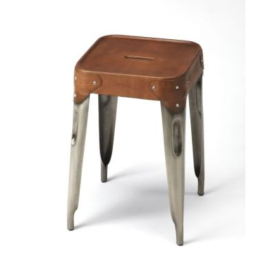 Connor Iron & Leather Counter Stool - 3964344