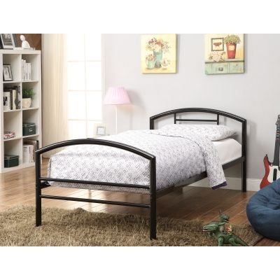 Baines Twin Bed in Black - 400157T