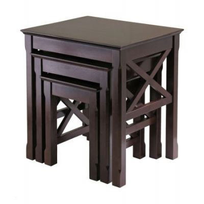 Xola 3 Piece Nesting Table Set in Cappuccino Finish - 40333