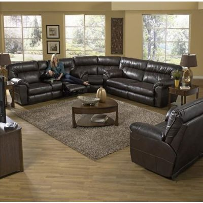 Nolan Leather Extra Wide Power Sectional in Godiva - 001543_Kit