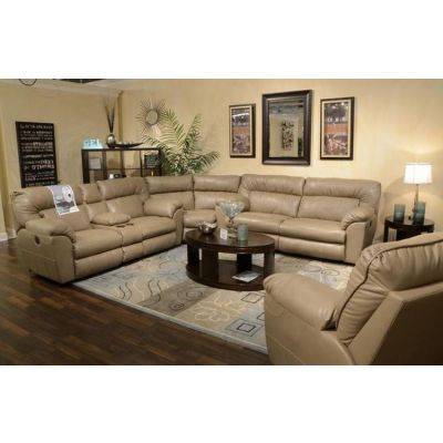 Nolan Leather Extra Wide Power Sectional in Putty - 001545_Kit