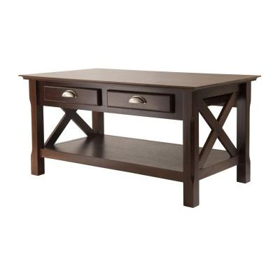 Xola Coffee Table with 2 Drawers in Cappuccino Finish - 40538
