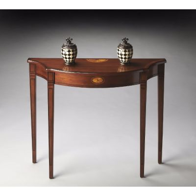Chester Olive Ash Burl Console Table - 4116101