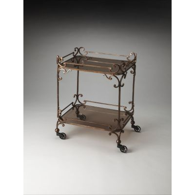 Delphine Iron & Glass Serving Cart - 4234025
