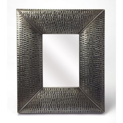Lehigh Hammered Iron Wall Mirror - 4310329