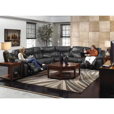 Catalina Power Reclining Sectional in Steel - 001521_Kit