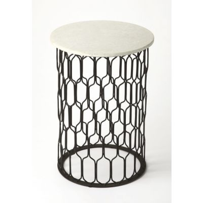 Sela Marble & Metal End Table - 4344389