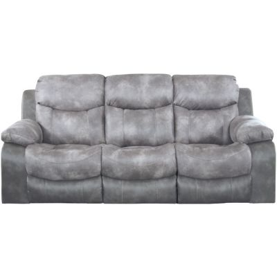Henderson Reclining Sofa With Drop Down Table in Steel - 4355115218