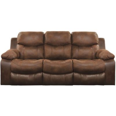 Henderson Reclining Sofa With Drop Down Table in Sunset - 4355115279