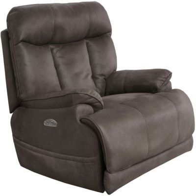 Amos Headrest Lay Flat Recliner in Charcoal - 645627115318