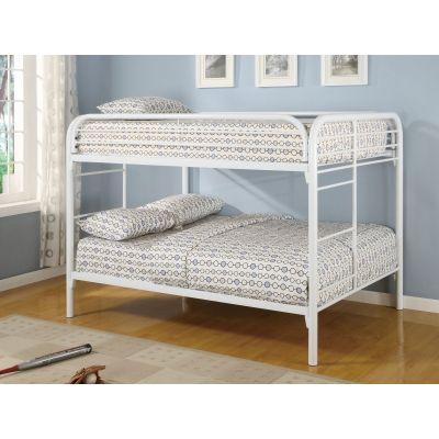 Youth Bedroom Fordham Full Bunk Bed in White - 460056W