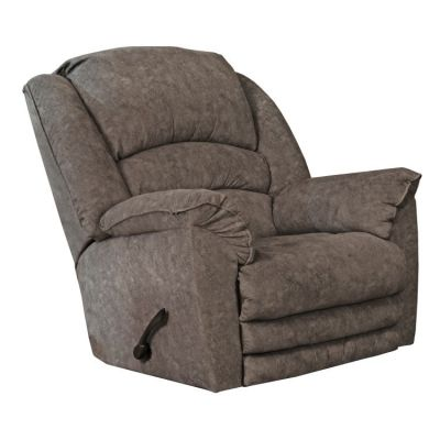 Rialto Lay Flat Recliner with Extended Ottoman in Steel - 647757162838