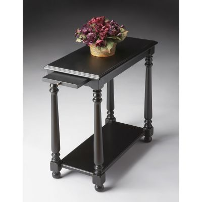 Devane Black Licorice Chairside Table - 5017111