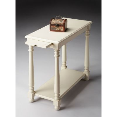 Devane Cottage White Chairside Table - 5017222