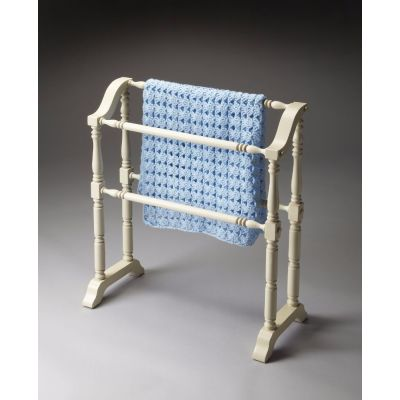 Lillian Cottage White Blanket Rack - 5020222