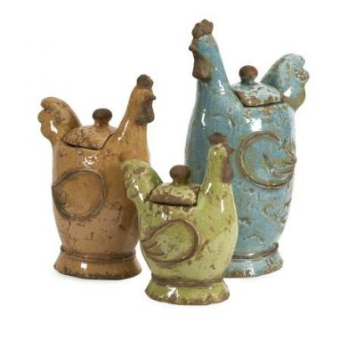 Cherda Lidded Roosters - 50353-3