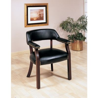 Upholstered Office Guest Chair in Black - 511K