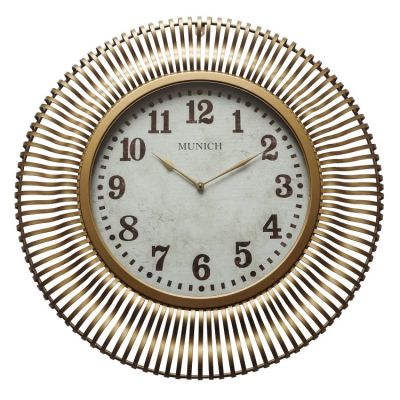 Munich in Antique Gold Wall Clock - 5140008