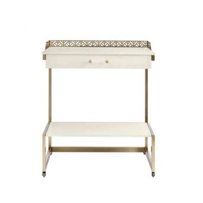 Coastal Living Oasis Catalina Bar Cart in Saltbox White - 527-21-08
