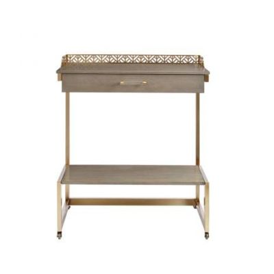 Coastal Living Oasis Catalina Bar Cart in Grey Birch - 527-61-08