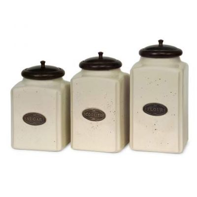 Ivory Canisters - 5358-3