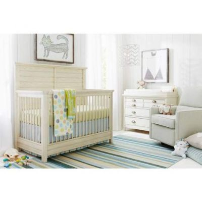 Driftwood Park Built To Grow Crib in Vanilla Oak