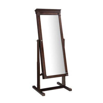Angela Cheval Mirror in Walnut - 556043WAL01U