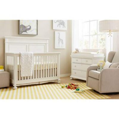 Smiling Hill Built To Grow Crib in Marshmallow - VEN025-560-23-50