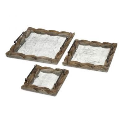 Santiago Wooden Trays - 56374-3