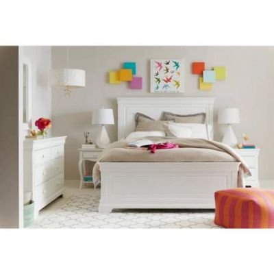 Teaberry Lane Full Panel Bed in stardust - VEN025-575-23-40