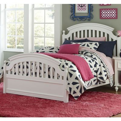 Academy Panel Bed - Twin in White - 5811-4103K