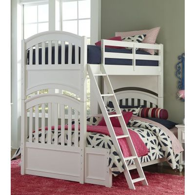 Academy Bunk Bed Twin Over Full in White - 5811-8140K