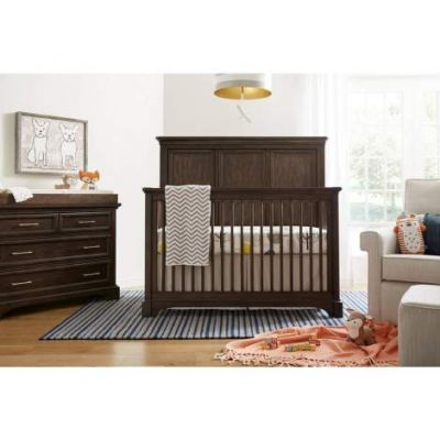 Chelsea Square Built To Grow Crib in Brown - VEN025-584-13-50