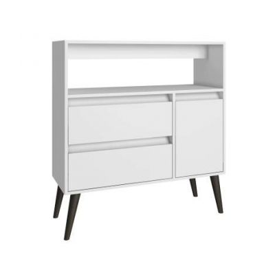 Functional Gota High Side Table, 1 Shelf, 2 Drawers & 1 Door - VEN039-5AMC129