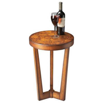 Aphra Olive Ash Burl Accent Table - 6021101