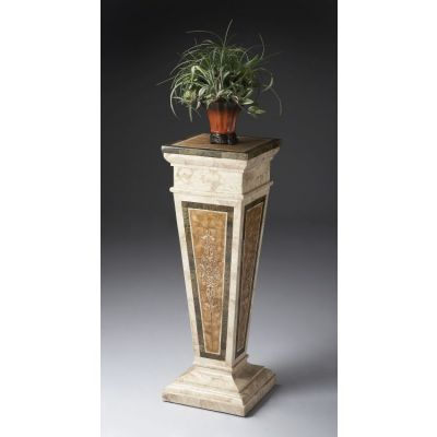 Augustus Etched Fossil Stone Pedestal - 6062070