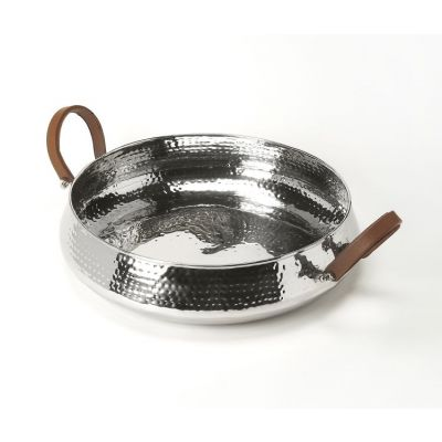 Brigadier Hammered Stainless Steel Serving Tray - 6189016
