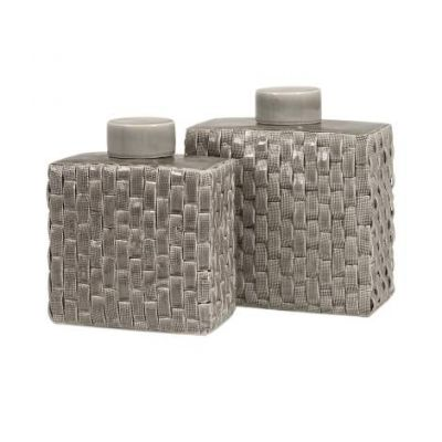 Sophie Woven Ceramic Canisters - 64243-2