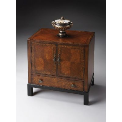 Courtland Cherry & Burl Accent Cabinet - 7008225