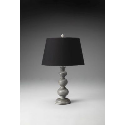 Carved Wood Table Lamp - 7102116