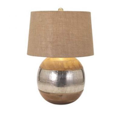 Nessa Wood And Metal Clad Lamp - 71821