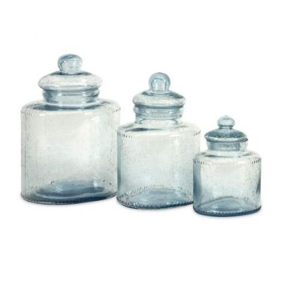 Cyprus Glass Canisters - 73217-3