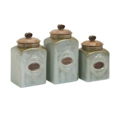 Addison Ceramic Canisters - 73327-3