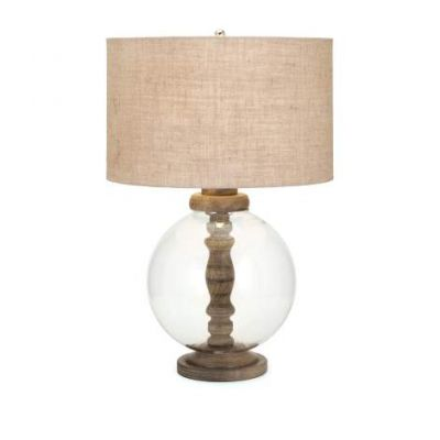 Mahin Wood And Glass Lamp - 73412