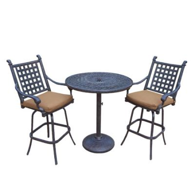 Belmont 36 In. 3-Piece Patio Bar Set With Sunbrella Cushions - 7807-7802-5-D54-MC