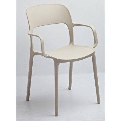 Jason Stackable Arm Chair (Set of 2) in Beige - DHF-JAS-CHA-PPX-BEI