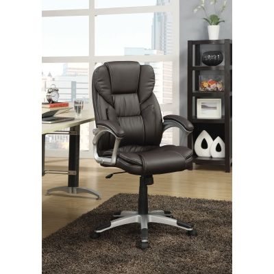 Office Task Chair with Lumbar Support in Dark Brown - 800045