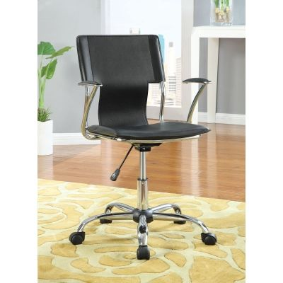 Adjustable Height Task Office Chair in Black - 800207