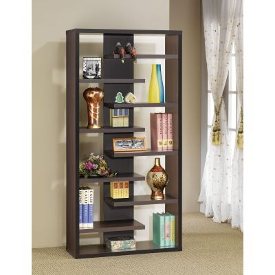 Semi Backless Display Cabinet in Cappuccino - 800265